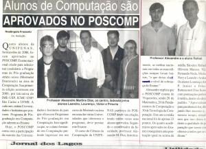 Alunos aprovados no POSCOMP 2006